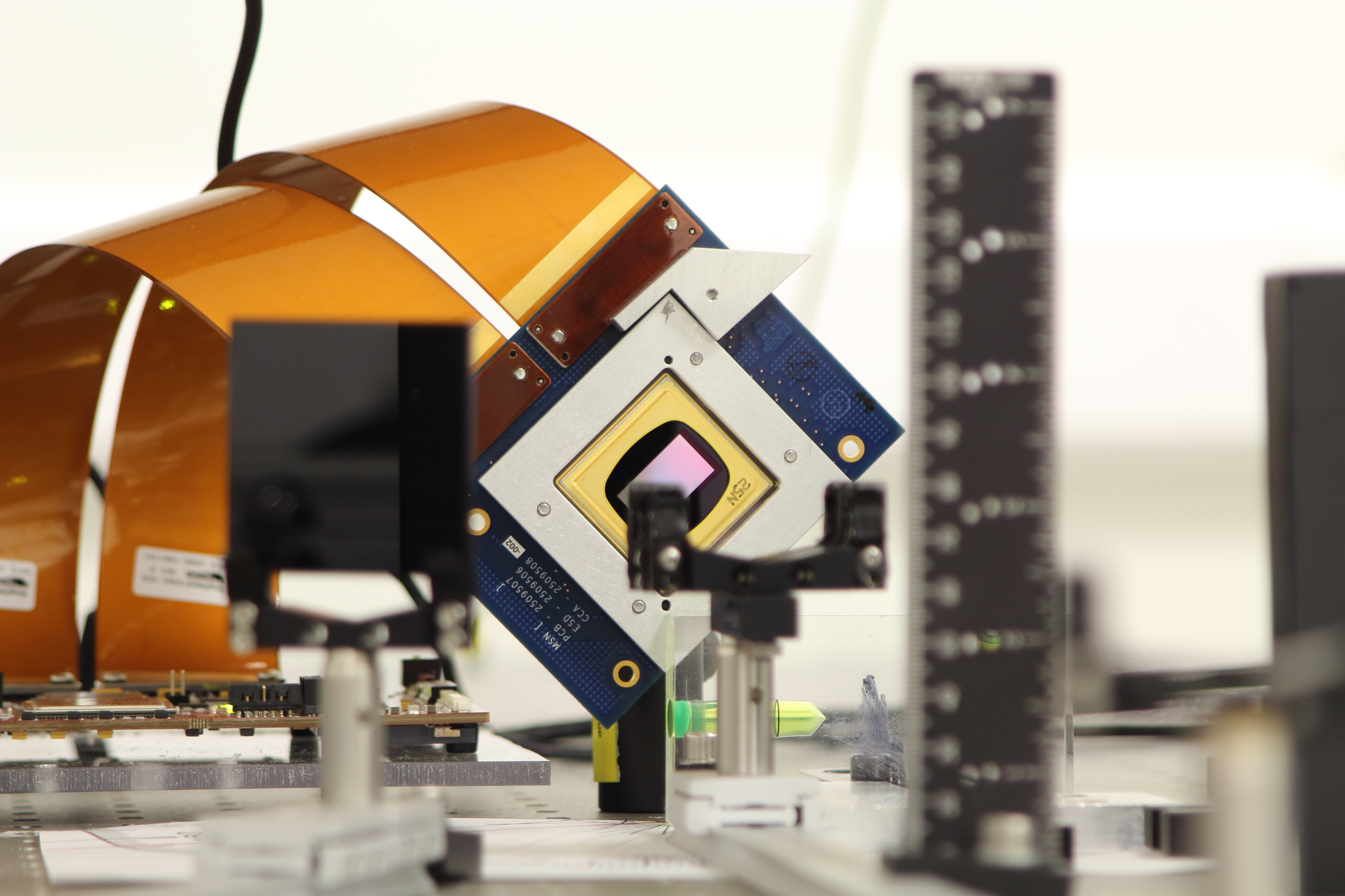 An adaptive optics-based beam monitor for characterizing beams of (anti)matter is being developed within the AVA project. Image credit: University of Liverpool/Cockcroft Institute.