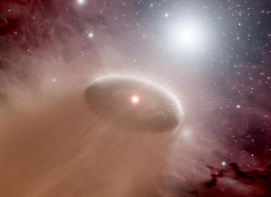 Researchers Discover that Protoplanetary Disc Shone on by Relatively Weak Star Loses Material