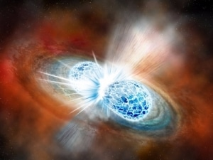 Neturon Star Collision Produces Gravitational Waves Detected by LIGO