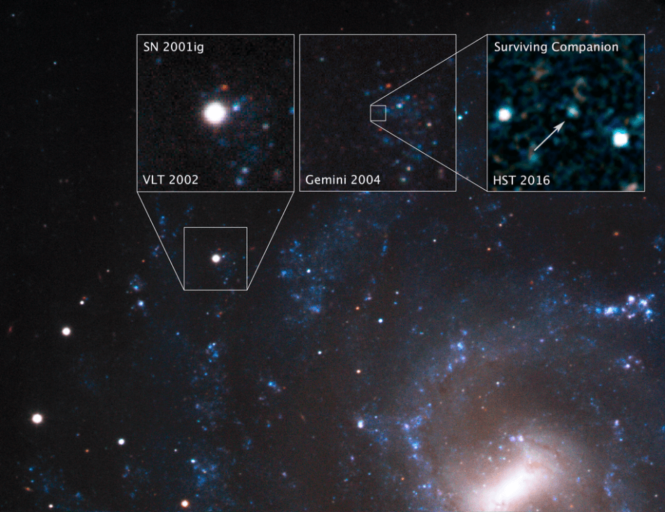 Astronomers Use Hubble to Observe Surviving Companions to Supernovas