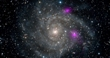 Brilliant Glow of Black Holes Lurking Inside Spiral Galaxy Caught by NuSTAR